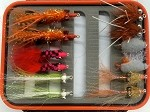 Surf Fly Bundle - Dozen Surf Flies and Waterproof Fly Box!