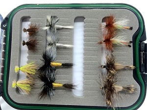 Western Hair Wing Fly Selection - Dozen Flies and Fly Box!