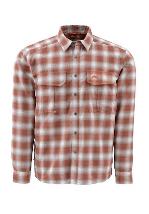 Simms Coldweather Flannel Shirt - Boulder Plaid