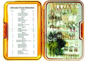 Umpqua UPG Ultimate Trout Selection - 74 Flies & FREE Fly Box